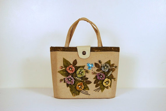 1960s Flower Handbag by CheekyVintageCloset on Etsy, $32.00