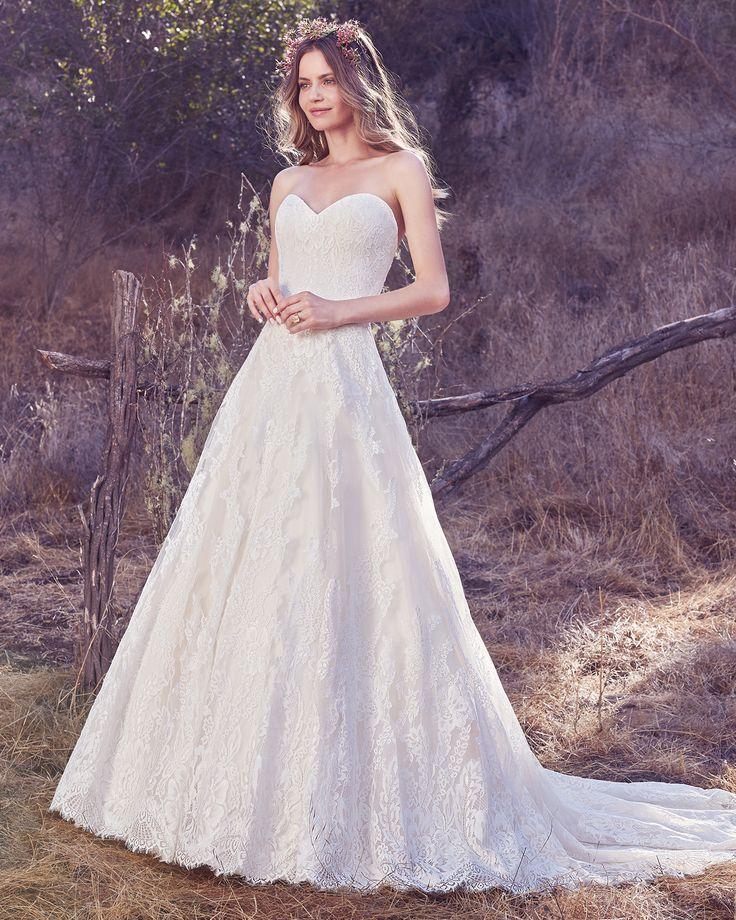 Vestido de Novia de Maggie Sottero (Olea), corte princesa, escote corazón, largo, sin mangas  ¡Mira más ideas de vestidos aquí!  #weddingdress #bride #vestidodenovia