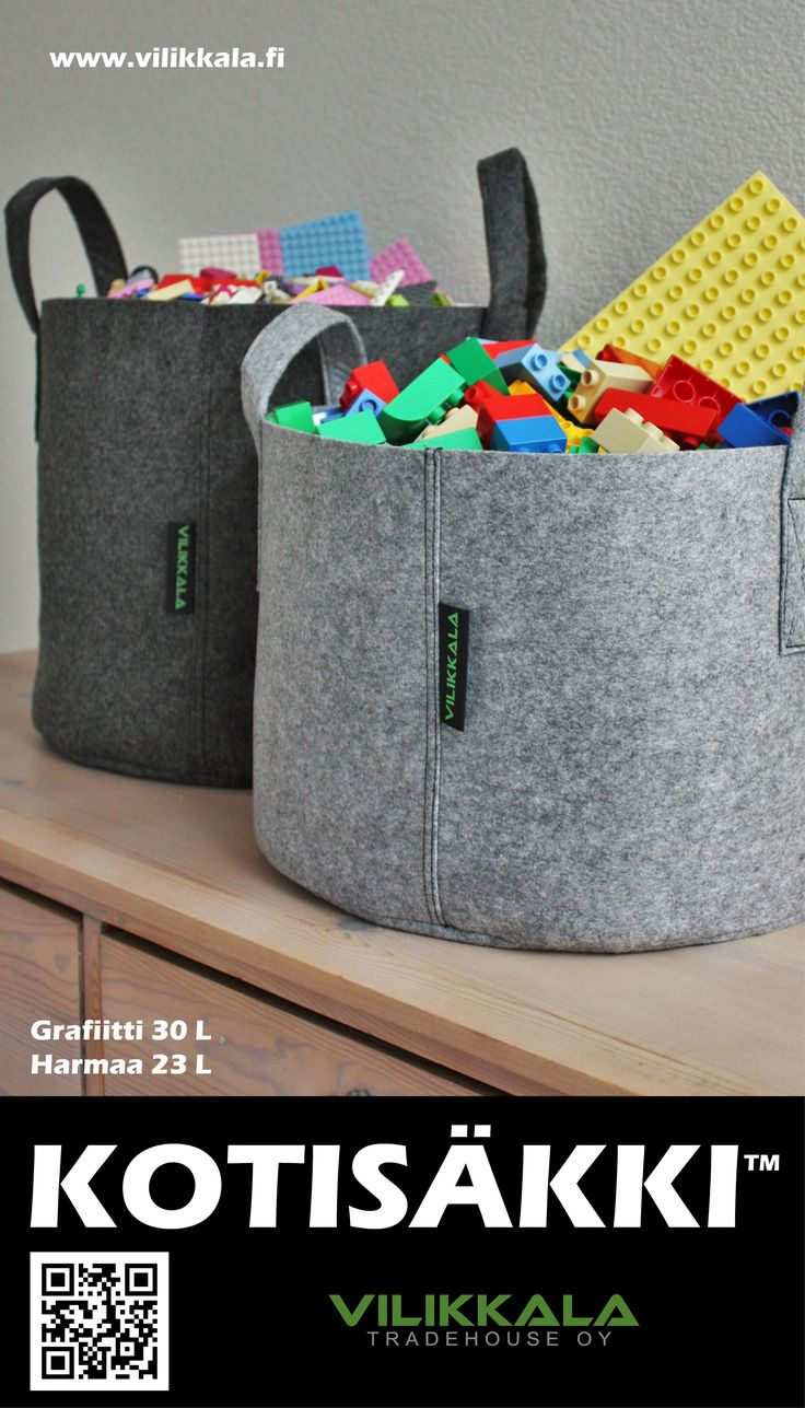 Store your precious home items or use as a garden bag! #Kotisäkki