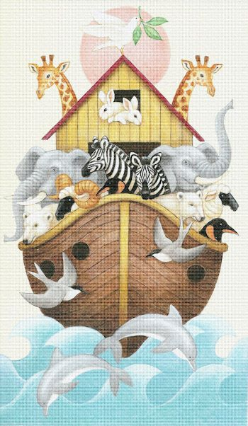 Painted Needlepoint Canvas called Noahs Ark by Stephanie Stouffer