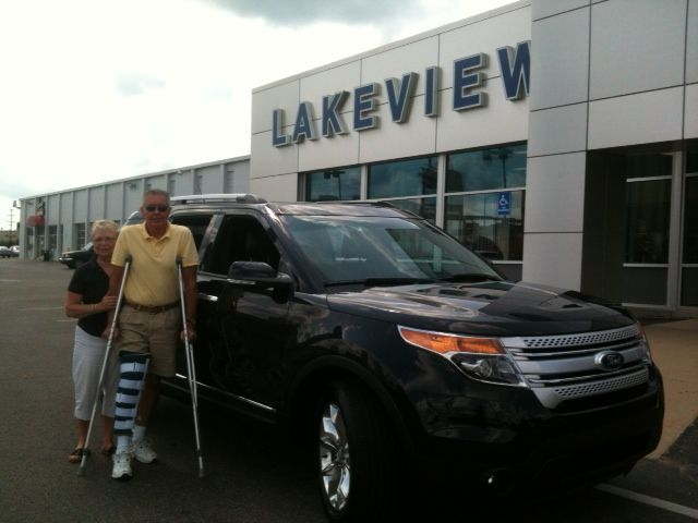 Congratulations Dennis & Connie Lafleur on the purchase of your brand new 2014 Ford Explorer XLT!  Thank You, Lakeview Ford Lincoln #HappyLakeviewFordCustomer