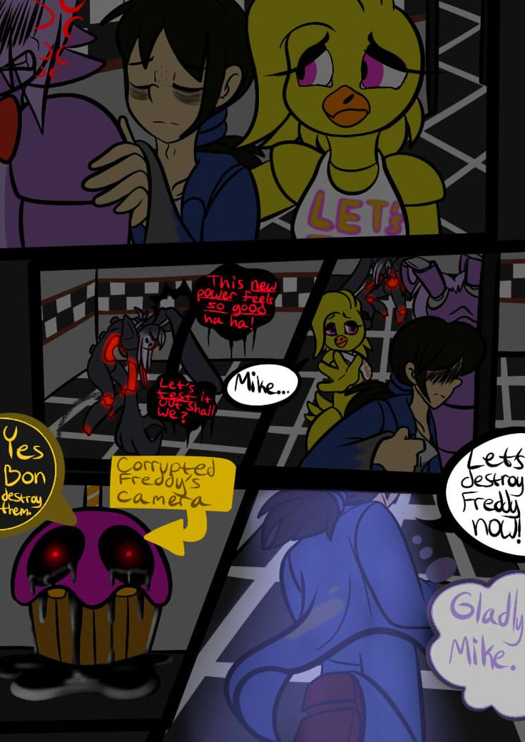 Fnaf 2 Comic Page 02 (with Color!) by StarringMeAndYou on