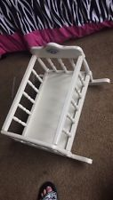 """Vintage Cabbage Patch Wooden Doll Crib/Cradle/ Bed w Pad - 18"""" Dolls"""