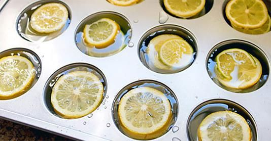 He Placed Lemon Slices into This Muffin Tray and Invented Something Ingenious