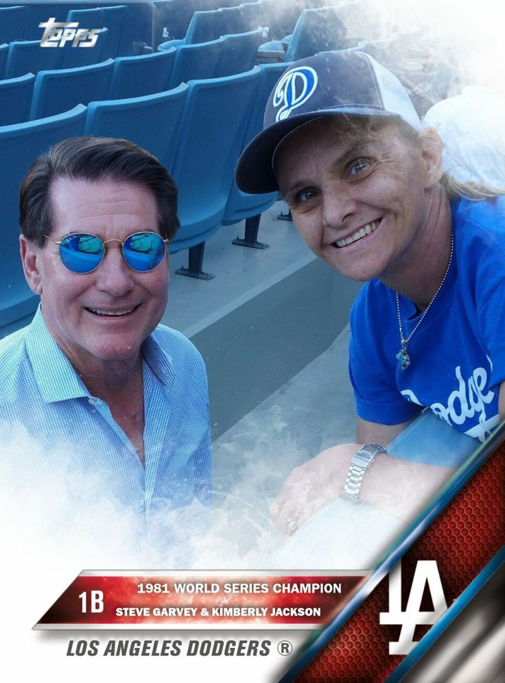 Created a baseball card picture of me and Steve Garvey