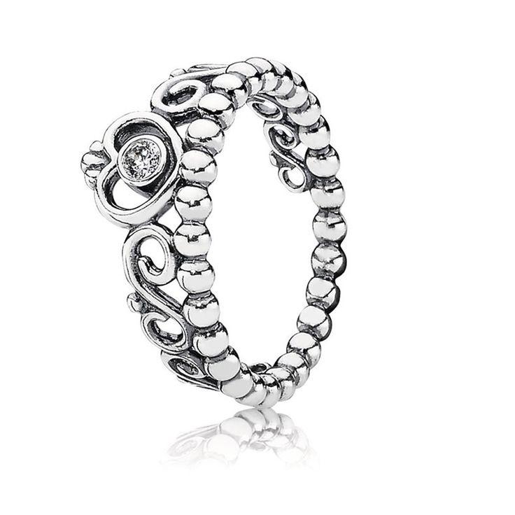 Pandora Silber Meine Prinzessin Tiara Ring 190880CZ