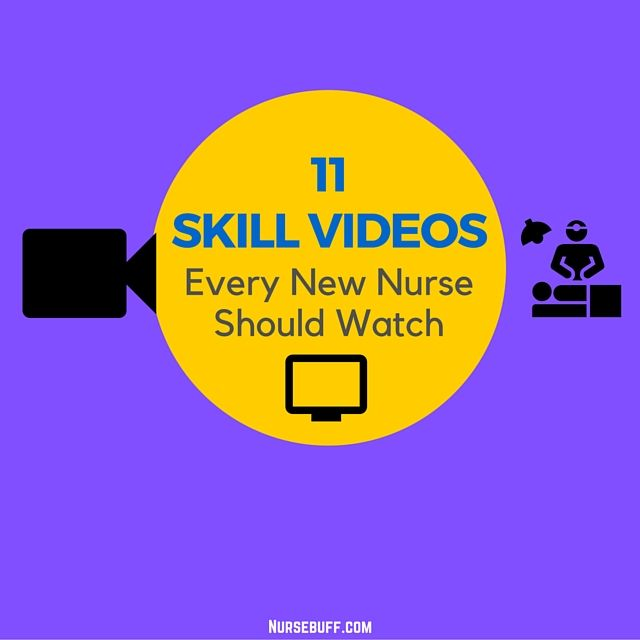 11 Skill Videos Every New Nurse Should Watch #Nursebuff #Nurse #Videos