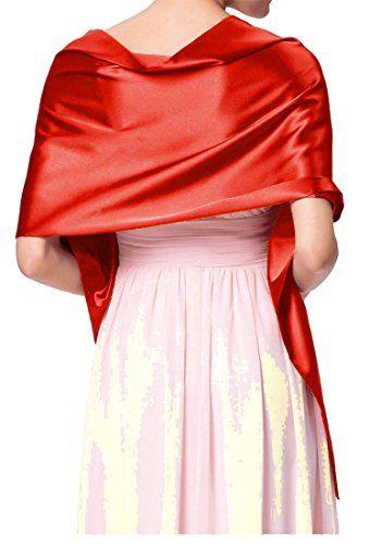 187a158ad762b9 NachtigallLerche Stola Satin für festliche Abendkleider Ballkleider  Abikleider Festkleider Schal Schultertuch. festlich passend …