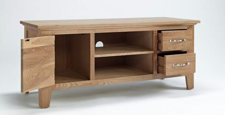 "Sherwood Oak TV Unit - up to 37"" TVs - By TV Size - TV Furniture"