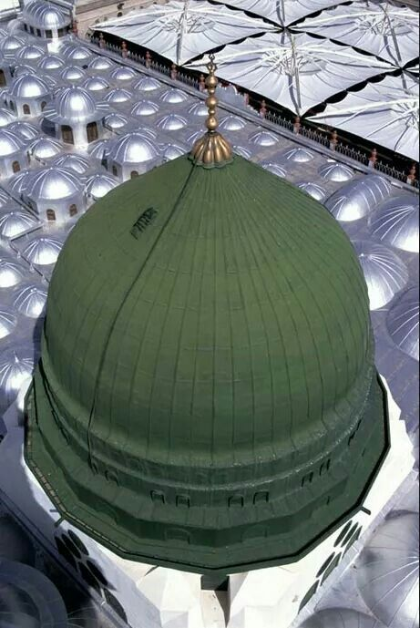 Beautiful view of the  green dome #Medina