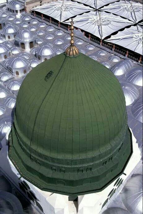 Beautiful view of the green dome #Medina