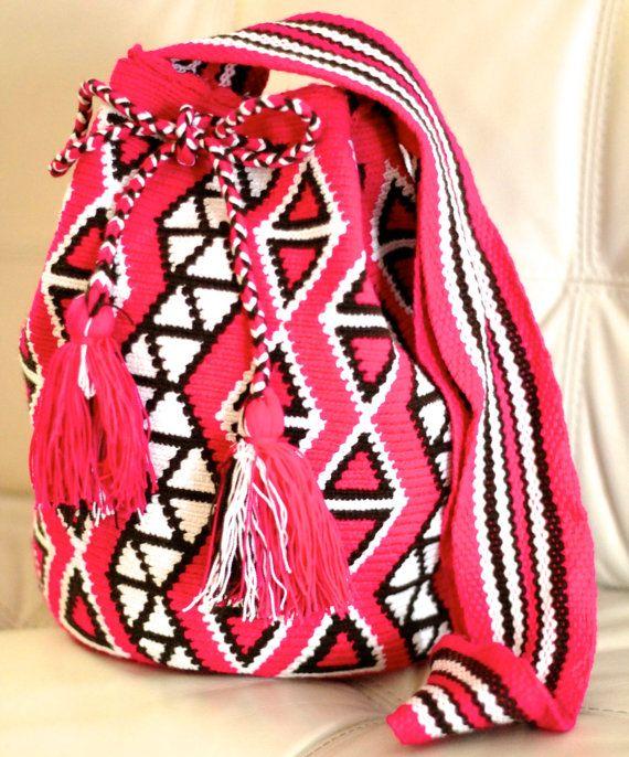 Pink Classic Wayuu Bag Mochila