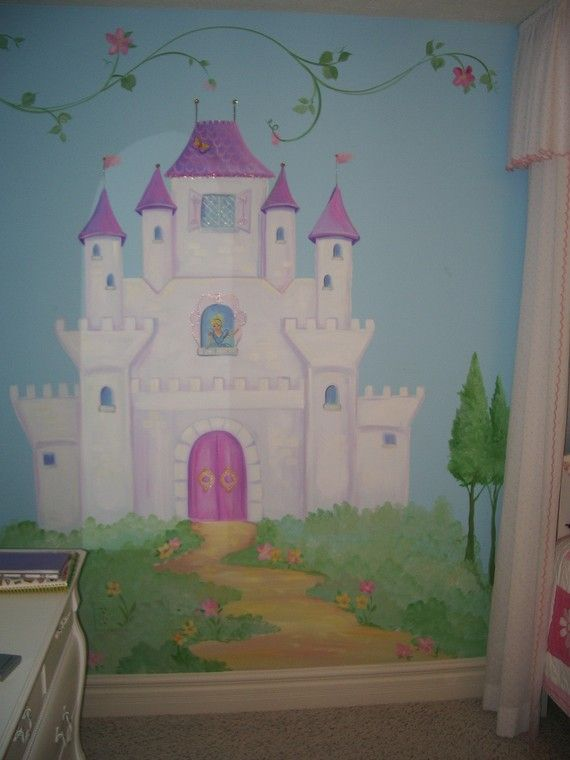25 best ideas about castle mural on pinterest princess for Disney castle wall mural