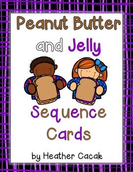 Thanks for your interest in my Peanut Butter and Jelly sequencing cards. I've found these cards work best with preschool age children, but they can also be used with kindergarten age children who struggle with sequencing and retelling stories.   Simply print pages 3 and 4, cut around the cards, laminate them, and have students retell the sequence of events that take place during the Peanut Butter and Jelly book.  {Tip: I use double face tape to mount small magnets to the back of my cards.