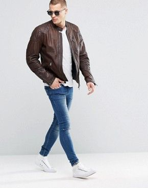 Men's leather jackets | Leather coat and biker jacket styles | ASOS