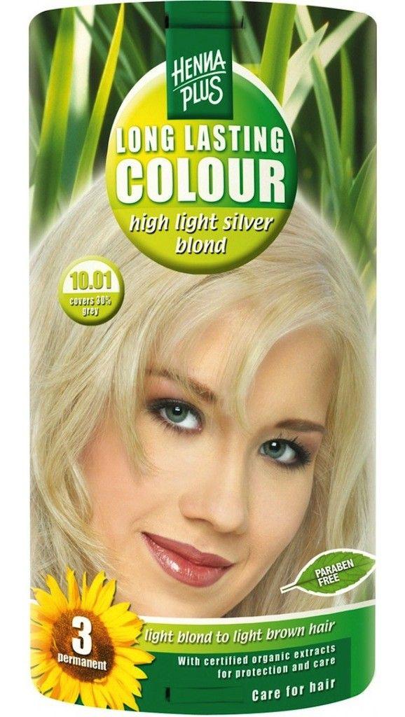 Hennaplus Long Lasting Colour 10.01 High Light Silver Blond 100ml  Hennaplus Long Lasting Colour 10.01 High Light Silver Blond biedt een duurzaam intensief glanzend kleurresultaat met 100% grijsdekking en optimale verzorging en bescherming van het haar. Houdt tot 3 maanden.De ultra verzorgende formulering is verrijkt met de fijnste  EUR 14.49  Meer informatie  #drogist