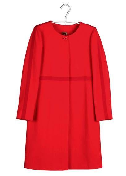 Manteau en laine  Rouge by #BENSIMON disponible sur #Placedestendances