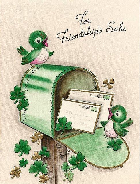 """For Friendship's Sake"" vintage St. Patrick's Day card by PorangiKui on Flickr."