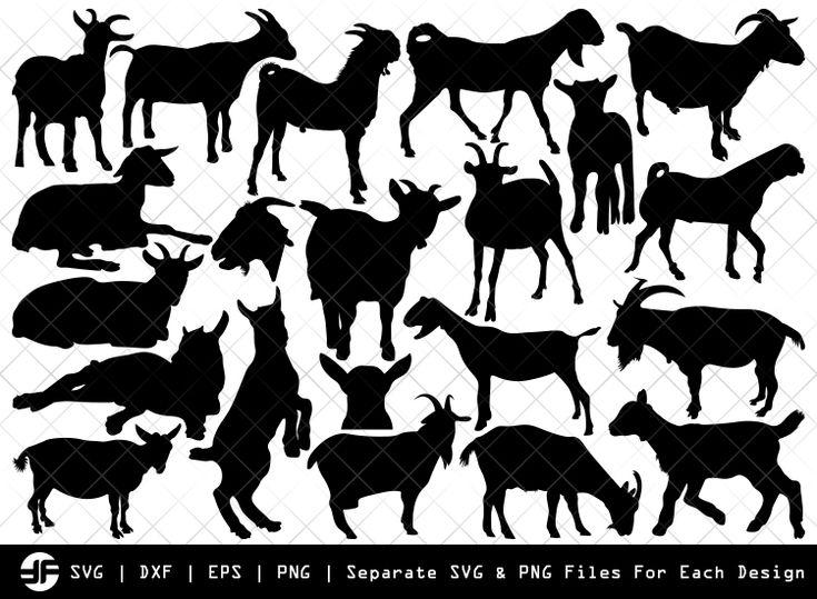 Download Goat SVG   Goat Silhouette   Goat Bundle   Goat Clip art ...