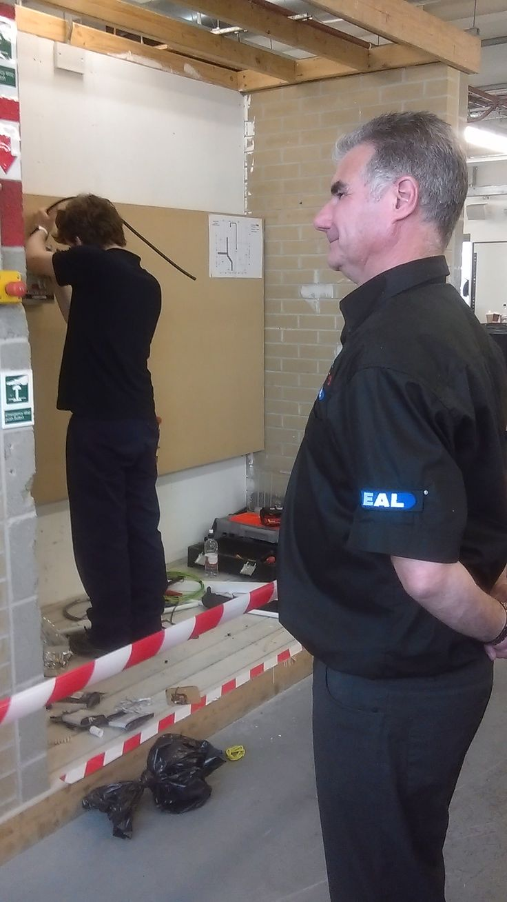 EAL external verifier Phil Hodgson judging at the  SkillELECTRIC competition
