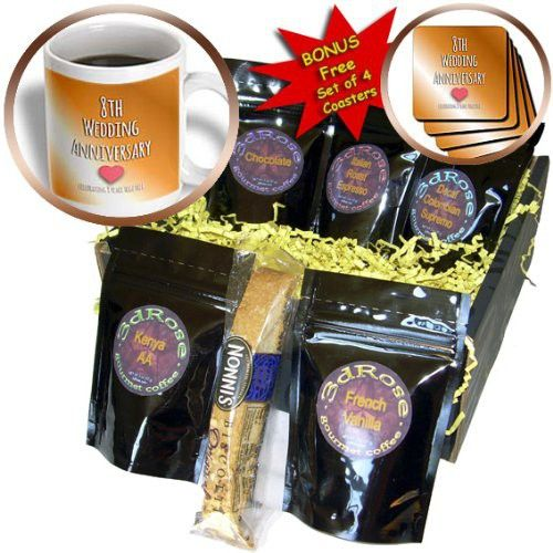 InspirationzStore Occasions - 8th Wedding Anniversary gift - Bronze celebrating 8 years together eighth anniversaries eight yrs - Coffee Gift Baskets - Coffee Gift Basket (cgb_154439_1)