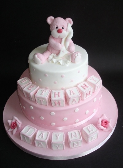 Christening cake By chocchippy on CakeCentral.com