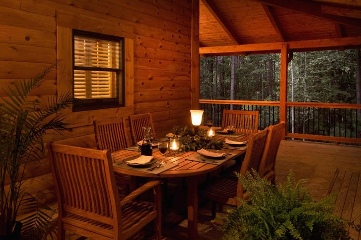 7 best images about log home porches decks on pinterest for Log cabin porches and decks