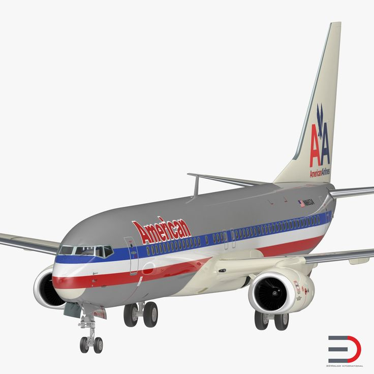 3D model Boeing 737-800 American Airlines Rigged