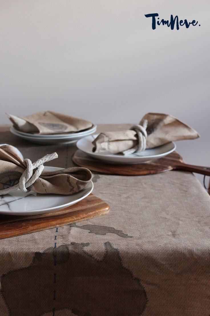 'Voyage' Tablecloth/Napkins: Introducing stylist Tim Neve's debut linen tableware designs.