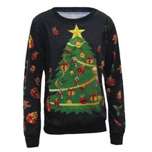 2016 Casual Hoodie Sweatshirt Women Hoodies Long Sleeve Pullover Sweartshirts Christmas Tree Decoration Funny Moleton Masculino(China (Mainland))