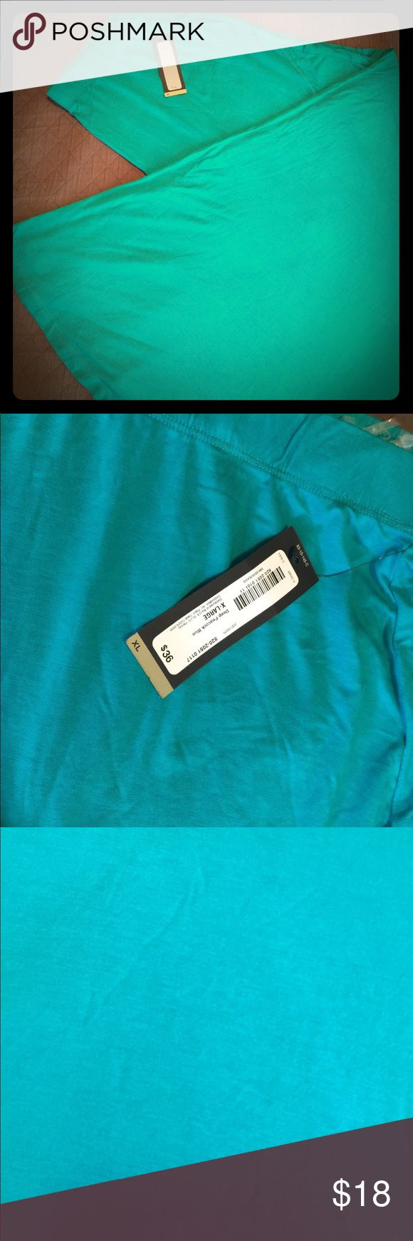 NWT-Deep Turquoise Maxi Skirt She ft, stretchy material--gorgeous year round color! Fits to at least 18/20W. Worthington Skirts Maxi