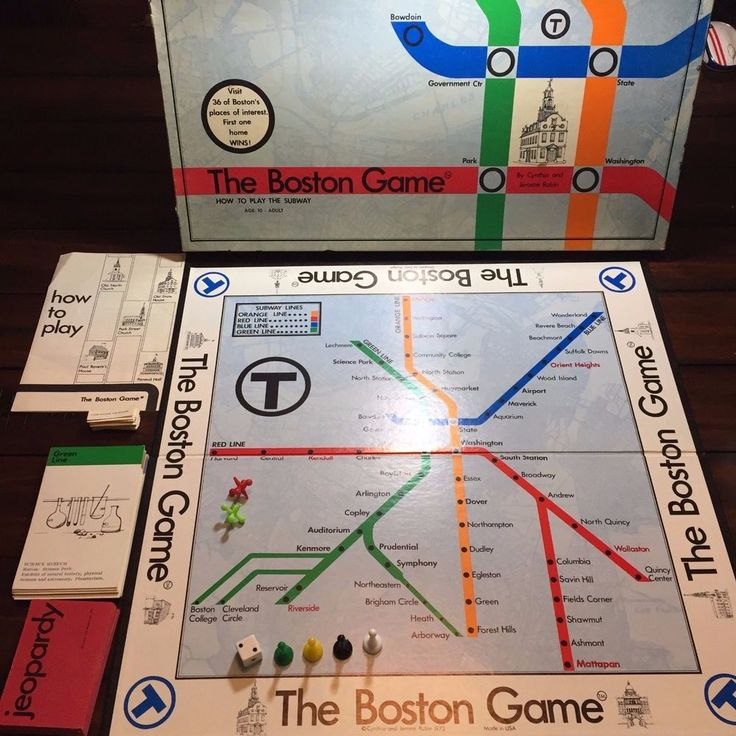 The Boston Game How to Play the Subway 1973 Board Game Vintage MBTA USA Made  OO #EmporiumPublications