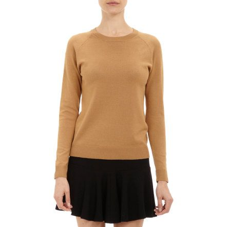 Barneys New York camel cashmere pullover sweater.  Rib-knit neckline, cuffs and bottom Camel   Cashmere   Dry clean