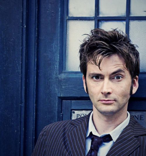Stop it....the eyebrow, the hair, the blue of the TARDIS in the background...it's too much! Melts