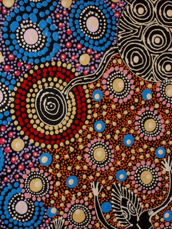 Aboriginal Art, Aboriginal Art for Sale, Dreamtime Art, Indigenous Art | Painting - Dreamtime Sisters - CW10082102 (COLLEEN WALLACE NUNGARI)