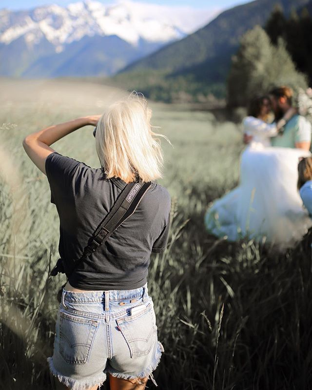 When your super talented friend @reannanshaystudios captures you in the dreamiest light and locationP.S I will not wear Jean shorts to your wedding this was a @thewhistlerweddingcollective styled shoot. However I may have to retire those well worn cut offs this year since theyve seen better days and I might be too old to wear them