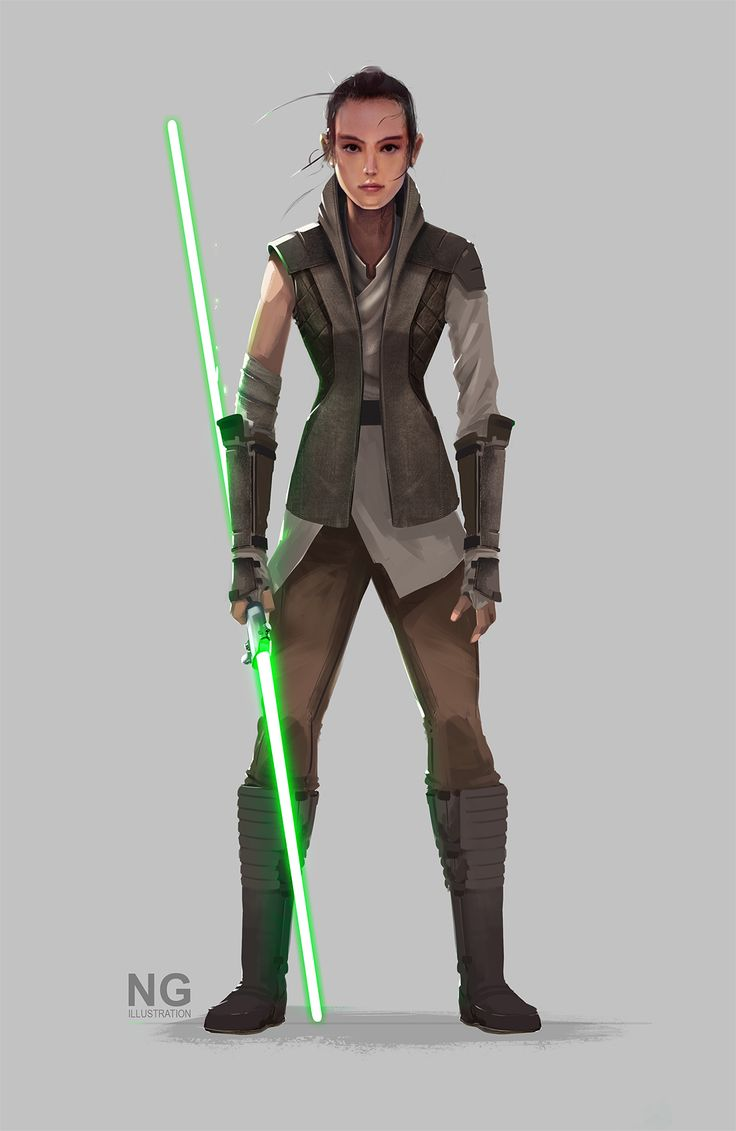 Rey   Watched Star Wars The Force Awakens again. Here is a version of what I think Rey's outfit might look like in the future films.