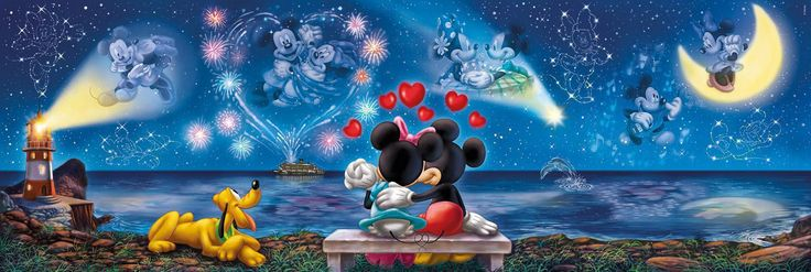mickey and minnie sarang puzzle | Clementoni 39287 Panorama Collection Mickey und Minnie 1000 Teile ...