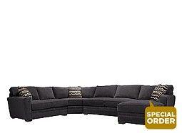 Artemis II 4-pc. Microfiber Sectional Sofa w/ Full Sleeper Sofa