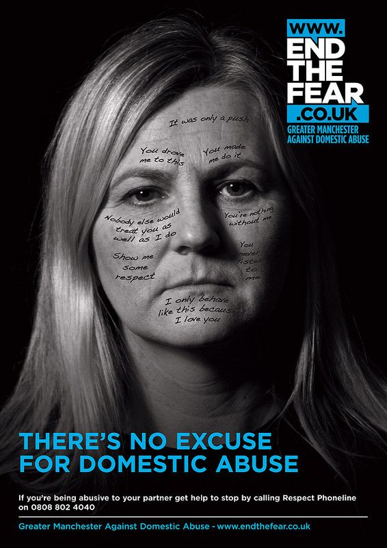 One of a new series of posters for the End the Fear campaign against domestic…