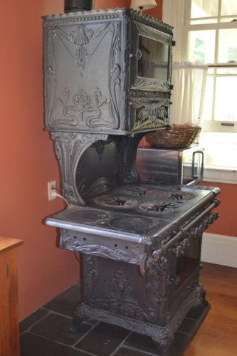 Olive Stove Works, Art Nouveau cast iron gas stove