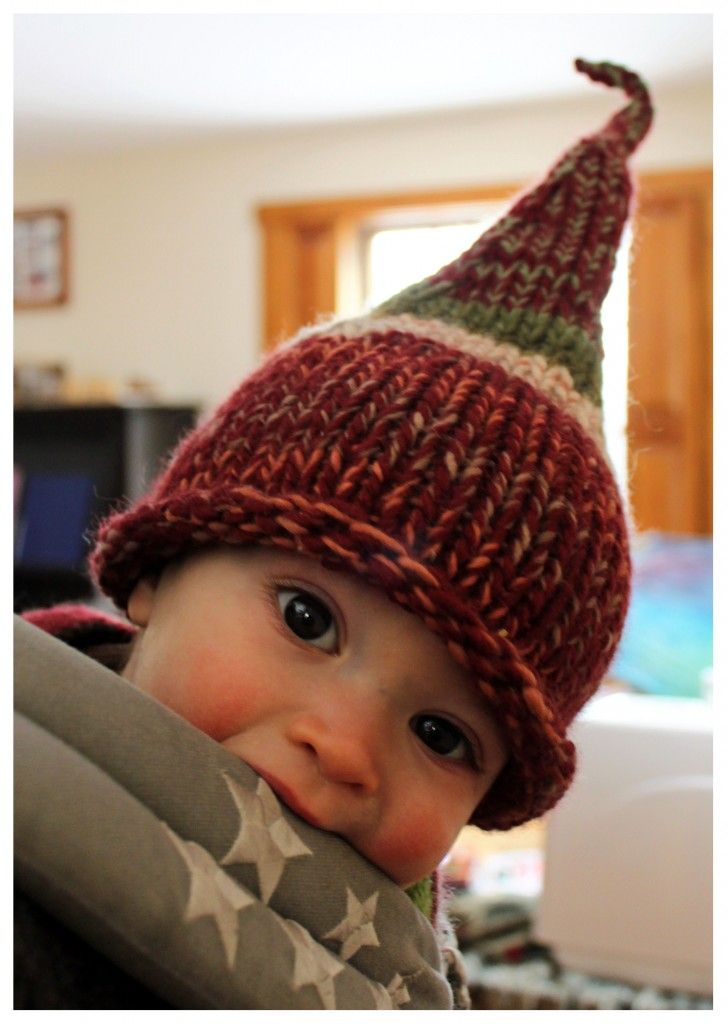 Gnome Hat Knitting Pattern Free : Scrappy Gnome Hat Hats Pinterest
