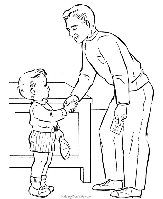happy fathers day page to color - Colouring In Pictures For Children