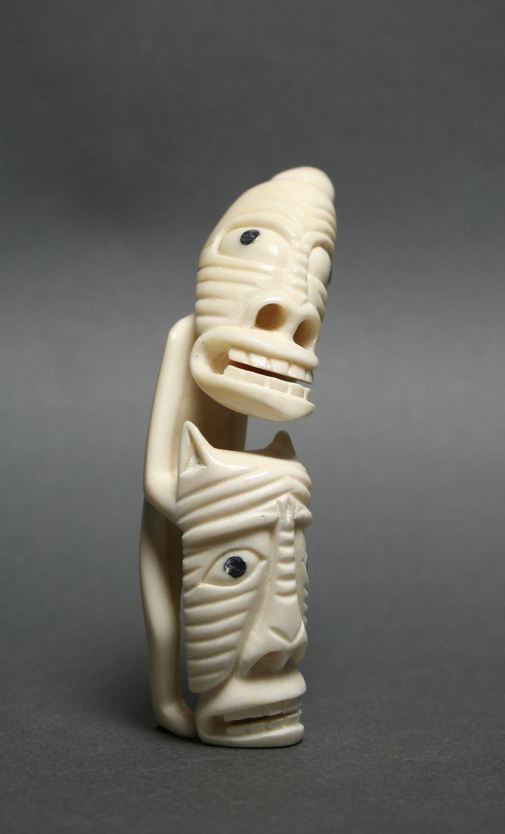 Tupilak (carved ivory) - unidentified Inuit artist
