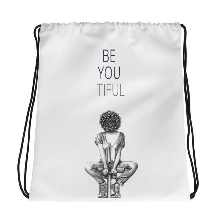 Excited to share the latest addition to my #etsy shop: Bag for gym, Hipster backpack, Valentine's gift for girlfriend, Motivational quote, Be you tiful print, Succulent print, Drawstring backpack #bagsandpurses #white #valentinesday #birthday #black #bagforgym #hipsterbackpack #valentinesgift #forgirlfriend
