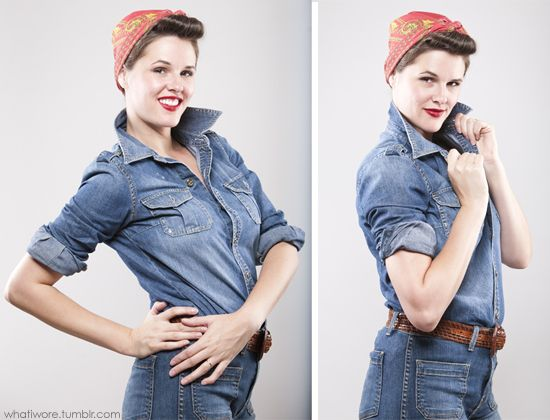 Rosie the Riveter: Diy Costumes, Holiday Ideas, Diy Halloween Costumes, Random, Rosie The Riveter, Costume Ideas Diys, Halloween Ideas, Costumes Ideas, Homemade Halloween Costumes