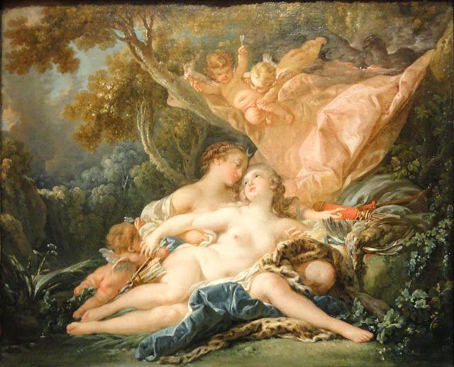Ο Δίας μεταμορφωμένος σε Άρτεμη και η νύμφη Καλλιστώ 1759