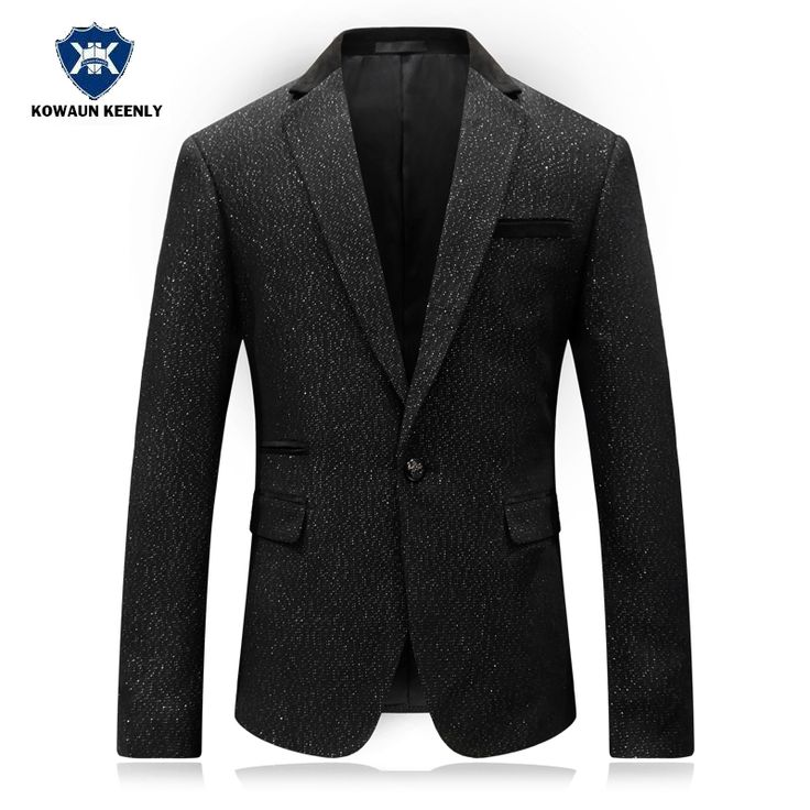 Slim Fit  Fashion Men's Sequins Blazer Casual Black Suit Jacket Male Luxury Formal Jacket Stage Costumes for Singers Jacket. Yesterday's price: US $77.37 (62.79 EUR). Today's price: US $77.37 (62.79 EUR). Discount: 9%.