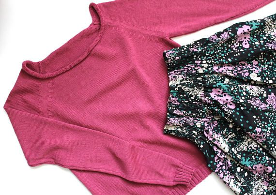 Blush pink sweater wool knit sweater summer sweater women
