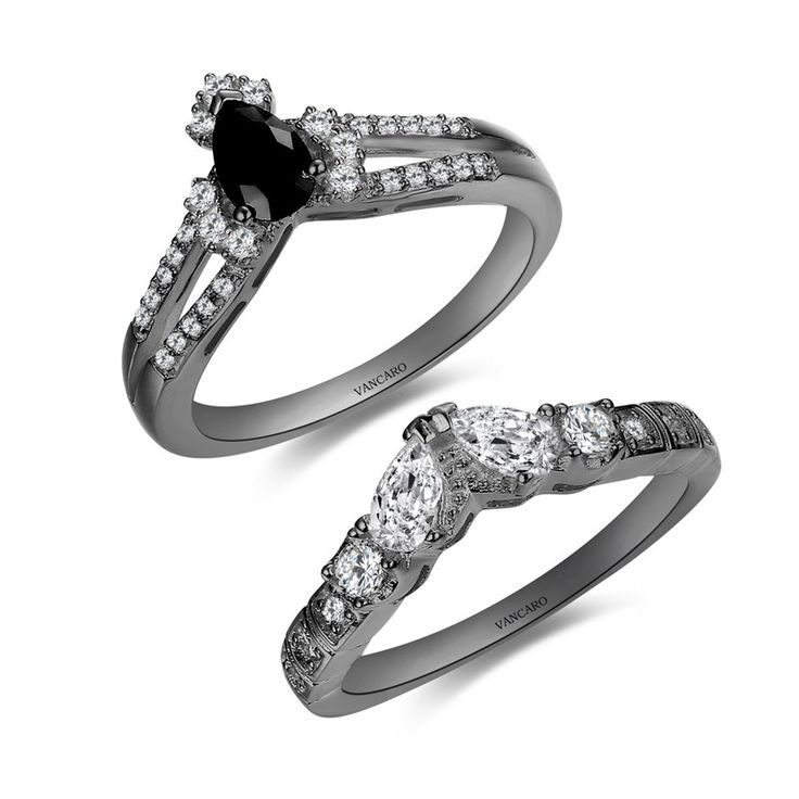 created rose diamond gold flower rings black silver set products ring engagement sterling